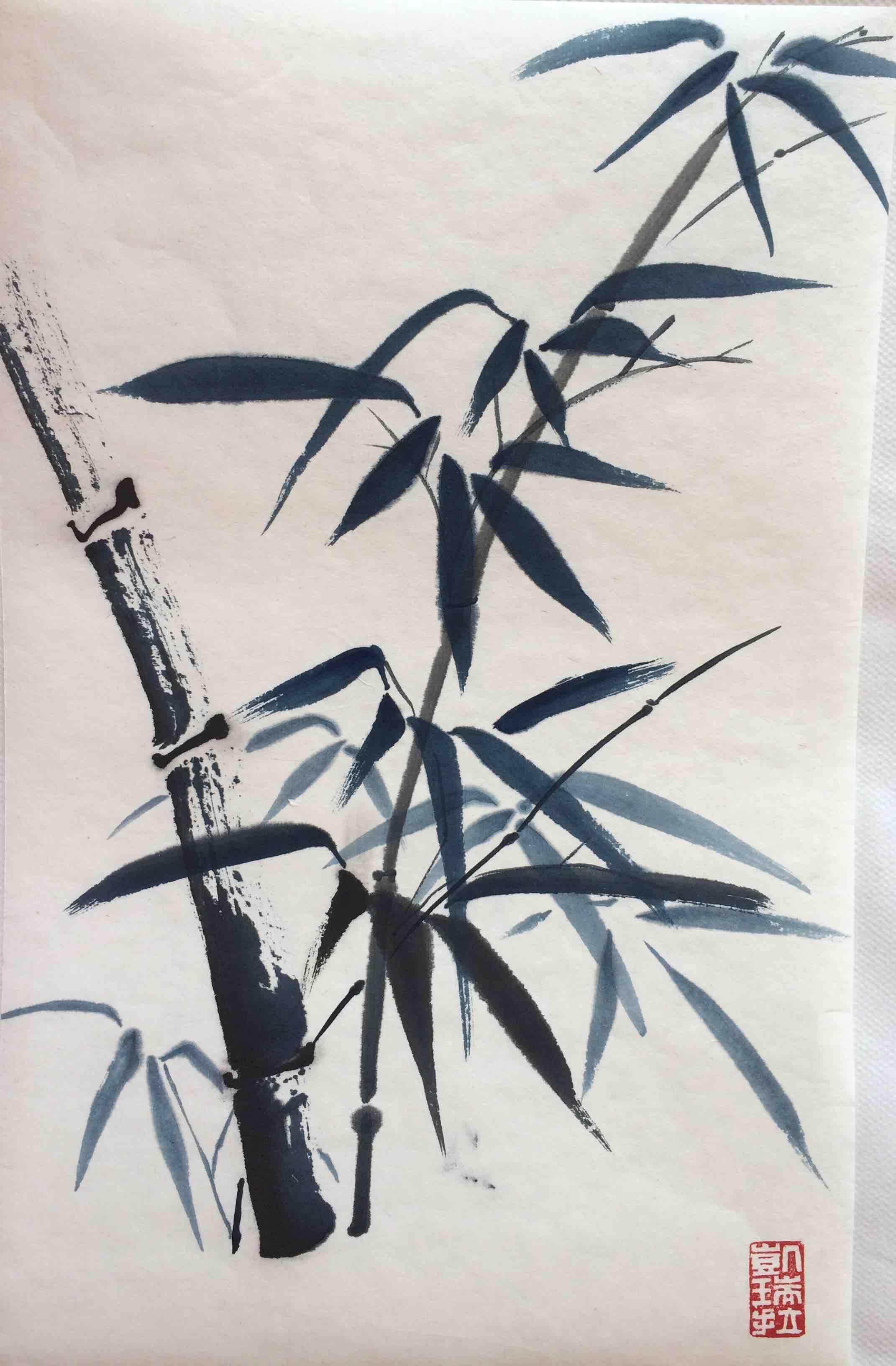 Blauer Bambus