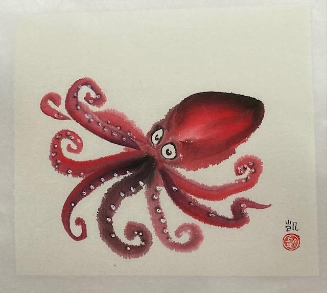 Roter Tintenfisch