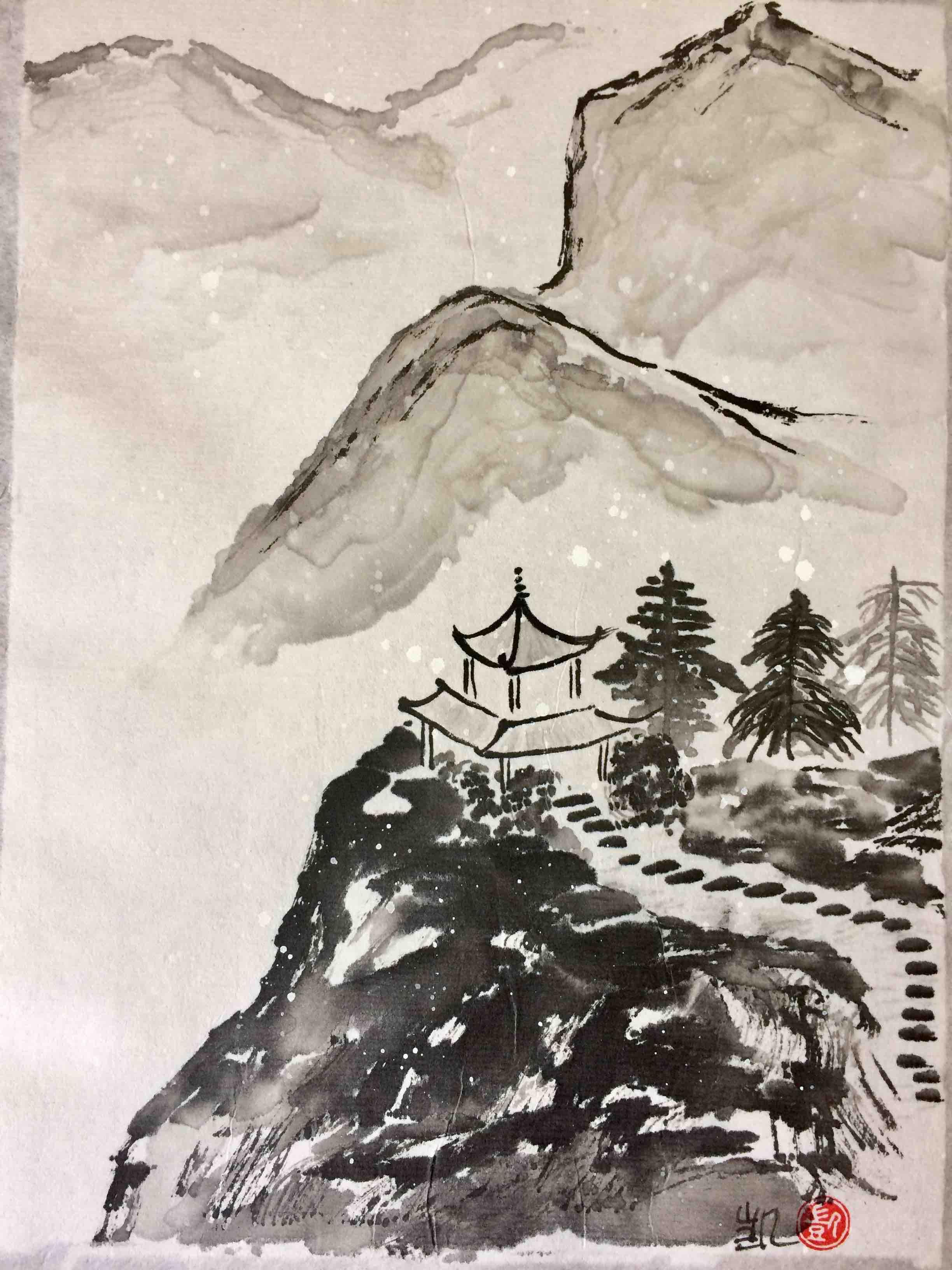 Pagoda in den Bergen
