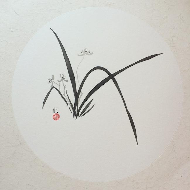 Chinesische Orchidee, rund