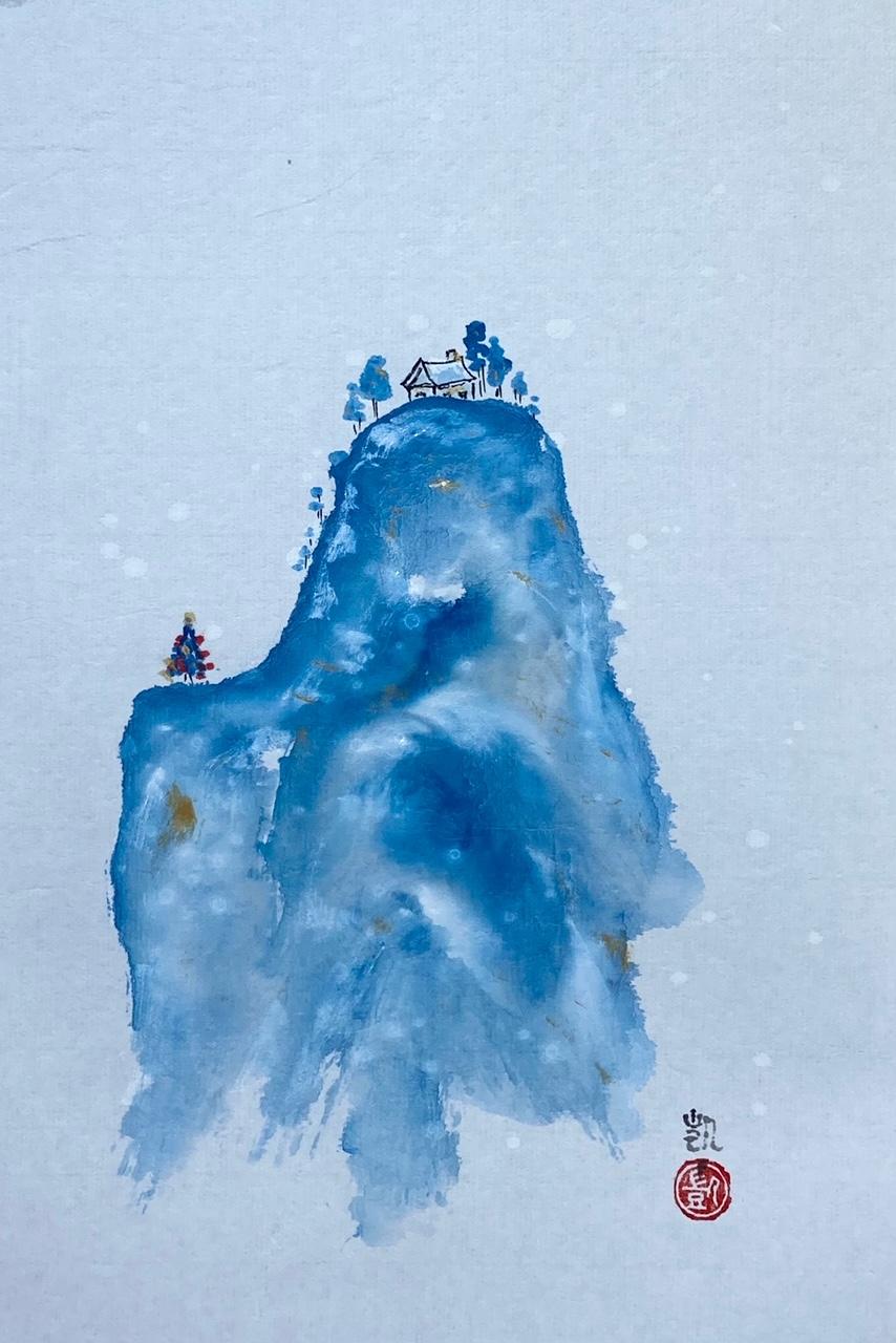 Weihnachen in der blauen Berge