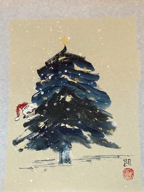 Wichtel im Weihnachtsbaum