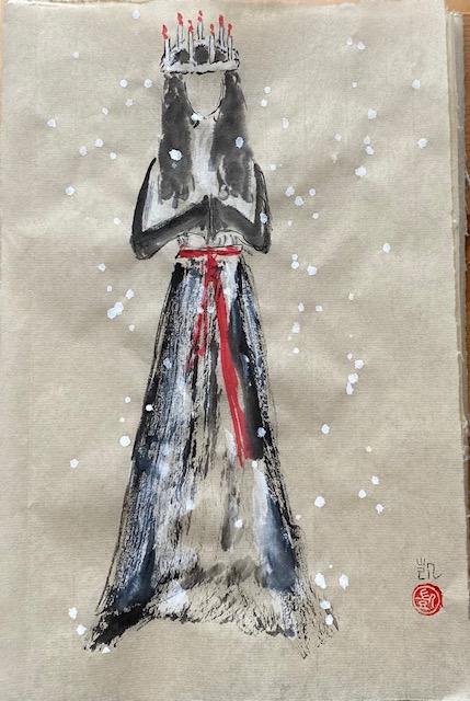 Lucia i snö